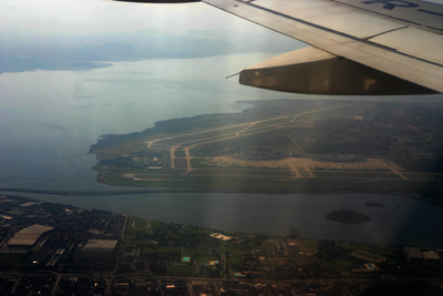 Rio de Janeiro international airport from the air