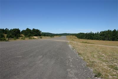 Runway of La Canourgue airstrip