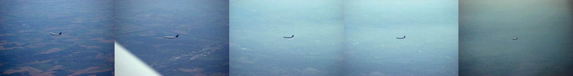 Saudi Cargo 747 passing 1000 ft below