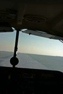 Short final runway 13 at Caen