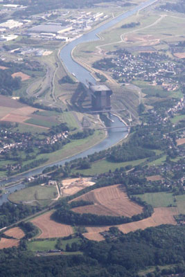 shiplift of Strépy from the air