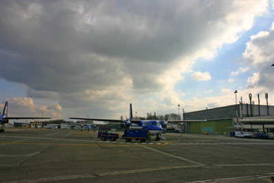 Tarmac on Antwerp airport (EBAW)