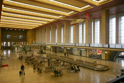 The main check-in hall at Tempelhof