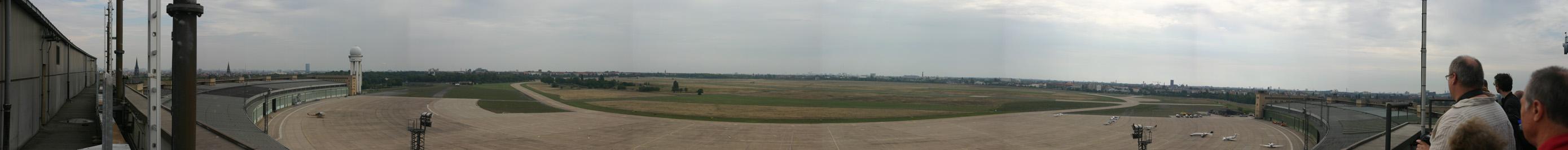 Panoramic view of Tempelhof airfield