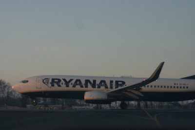 The third Ryanair touching down just in front of me