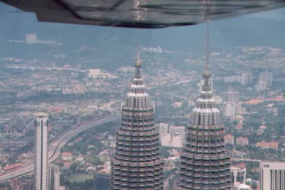 Top of Petronas twin towers