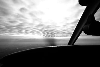 Under the cloud deck