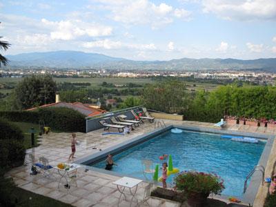View onto the Arezzo airport