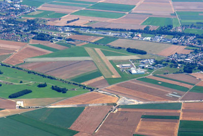 Vitry airport from the air