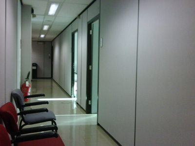Waiting room of the ECLG